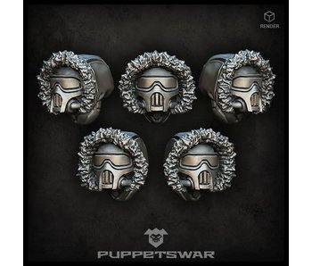 Puppetswar Masked Arctic Troopers heads (S133)