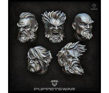 Puppetswar Norsemen heads (S141)