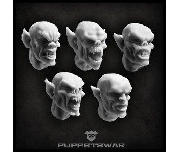 Puppetswar Frenzy Vampire heads (S140)