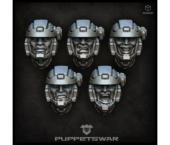 Puppetswar Troopers heads (S145)