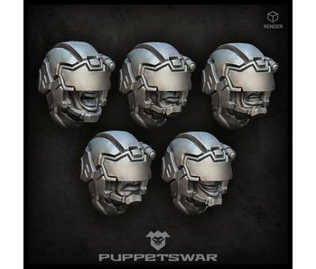 Puppetswar Protectors heads (S142)