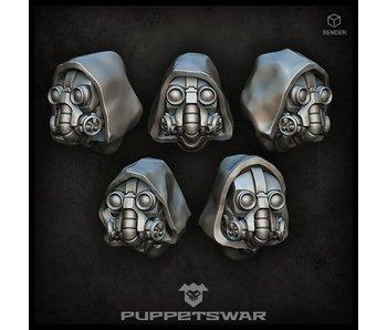 Puppetswar Tech Monks heads (S162)