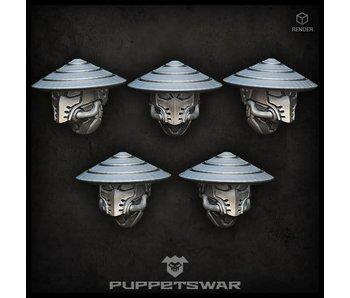 Puppetswar Masked ashigaru heads (S183)