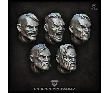Puppetswar Cossack heads (S190)