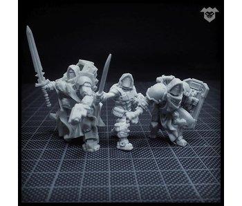 Puppetswar Hooded Crusaders helmets (S195)