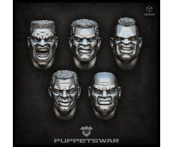 Puppetswar African heads (S207)