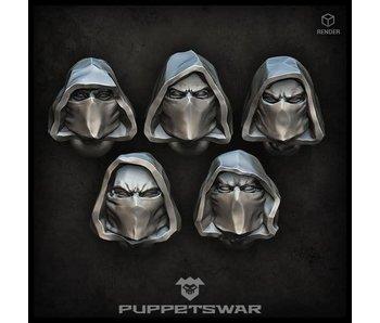 Puppetswar Rangers heads (S209)