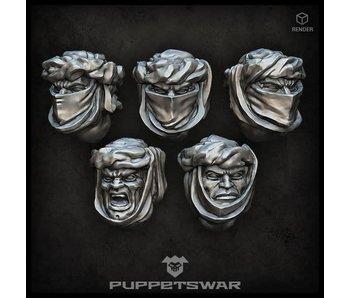 Puppetswar Desert Troopers heads (S214)