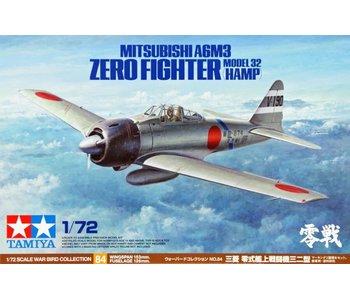 Tamiya 1/72 A6M3 Zero Model 32 (Hamp)