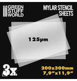 Green Stuff World A4 Mylar Stencil Sheets x3