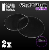 Green Stuff World Acrylic Bases - Round 100 mm CLEAR