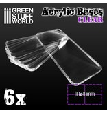 Green Stuff World Acrylic Bases - Square 80x40mm CLEAR