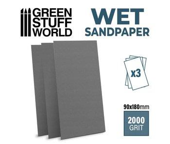 GSW Wet water proof SandPaper 180x90mm - 2000 grit