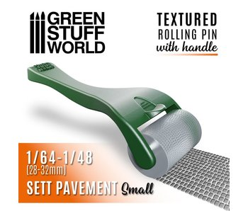 GSW Rolling pin with Handle - Sett Pavement Small