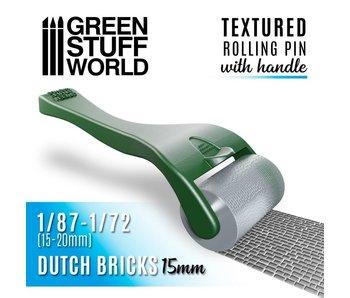 GSW Rolling pin with Handle - Dutch Bricks 15mm