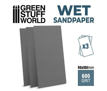 GSW Wet water proof SandPaper 180x90mm - 600 grit