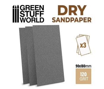 GSW SandPaper 180x90mm - DRY 120 grit