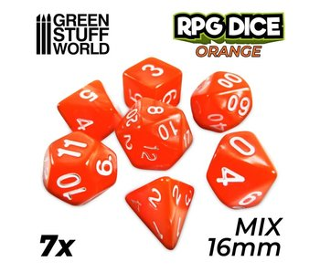 GSW 7x Mix 16mm Dice - Orange