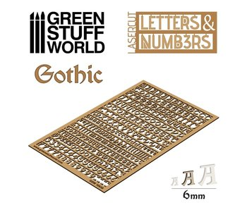 GSW Letters and Numbers 6 mm GOTHIC