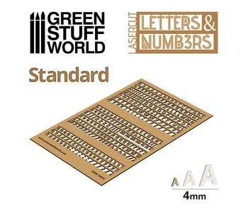 GSW Letters and Numbers 4 mm STANDARD