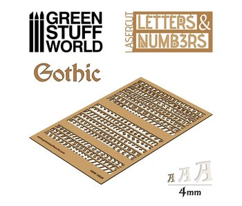 GSW Letters and Numbers 4 mm GOTHIC