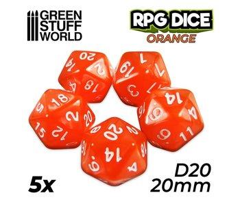 GSW 5x D20 20mm Dice - Orange