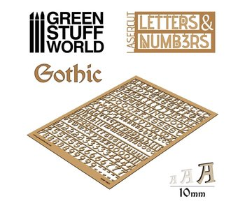 GSW Letters and Numbers 10 mm GOTHIC