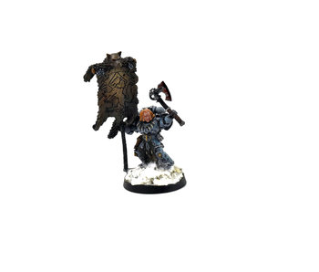 SPACE WOLVES Grey Hunter with Wolf Standard #1 40k