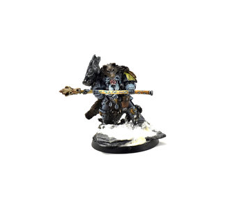 SPACE WOLVES Njal Stormcaller in Terminator Armour #1 WELL PAINTED 40k