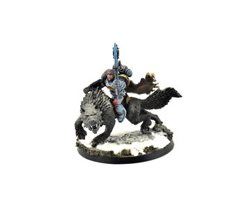 SPACE WOLVES Wolf Lord on Thunderwolf #1 PRO PAINTED 40k