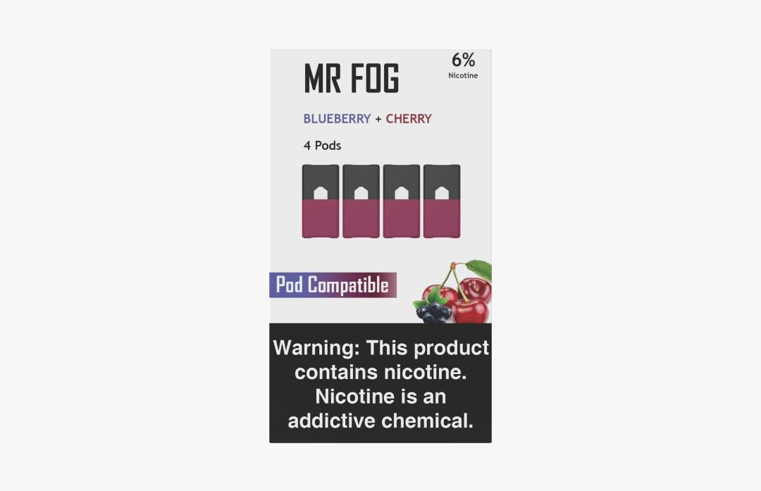 MR FOG PODS PACK OF 4 BLUEBERRY + CHERRY
