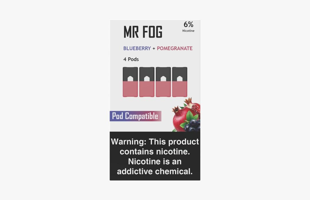 MR. FOG PODS PACK OF 4 BLUEBERRY + POMEGRANATE