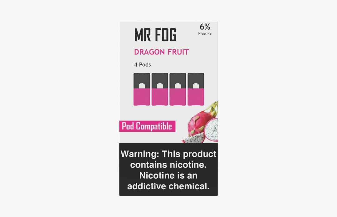MR FOG PODS PACK OF 4 DRAGON FRUIT