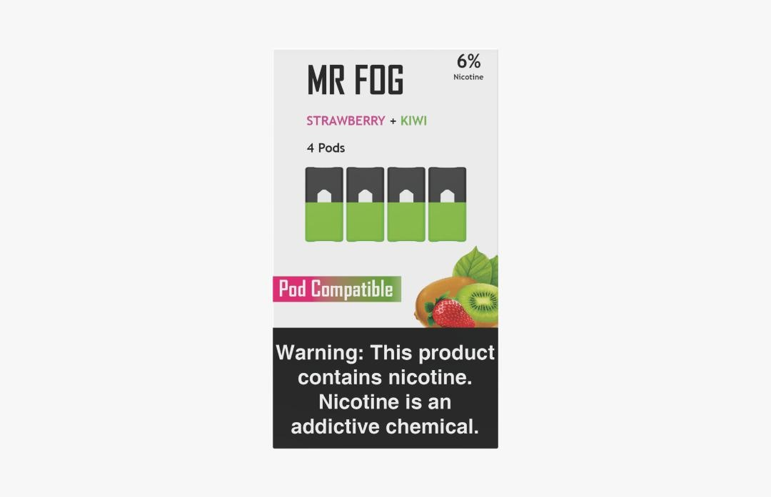 MR FOG PODS PACK OF 4 STRAWBERRY + KIWI