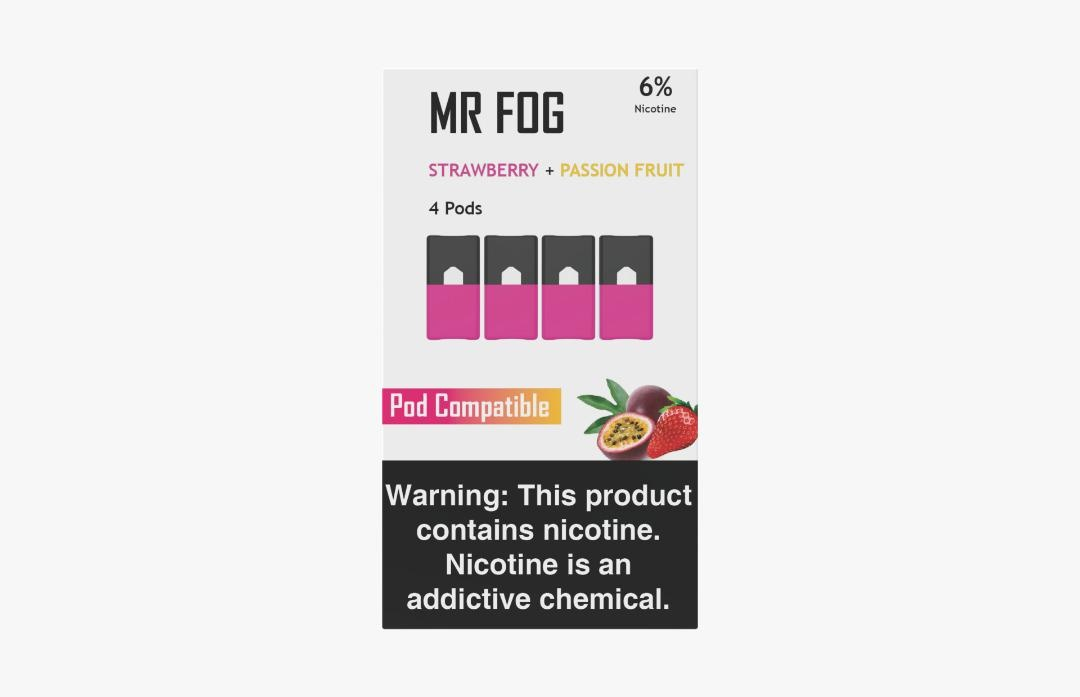 MR FOG PODS PACK OF 4 STRAWBERRY + PASSION FRUIT