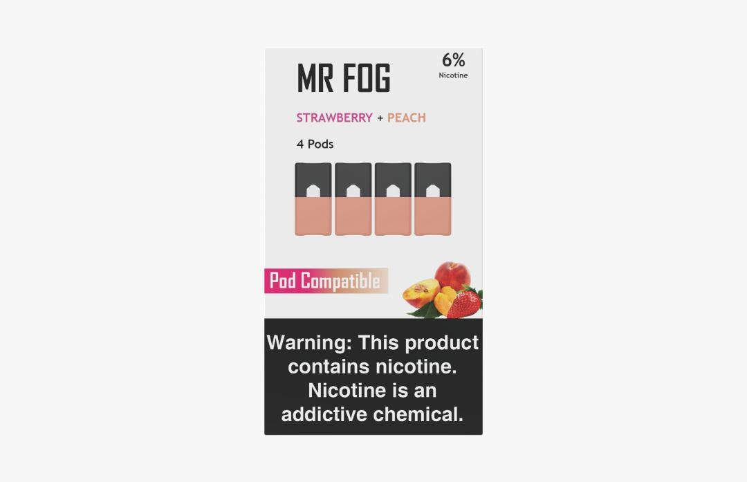 MR FOG PODS PACK OF 4 STRAWBERRY + PEACH