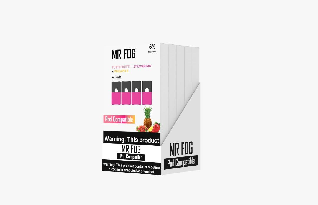 MR FOG PODS PACK OF 4 TUTTI FRUTTI + STRAWBERRY + PINEAPPLE
