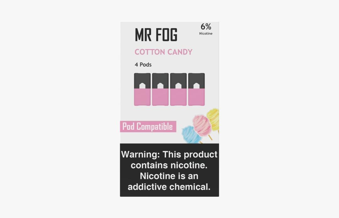 MR FOG PODS PACK OF 4 COTTON CANDY