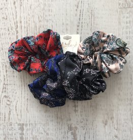 Golden Stella Paisley Scrunchie Set