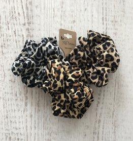 Golden Stella Leopard Scrunchie Set