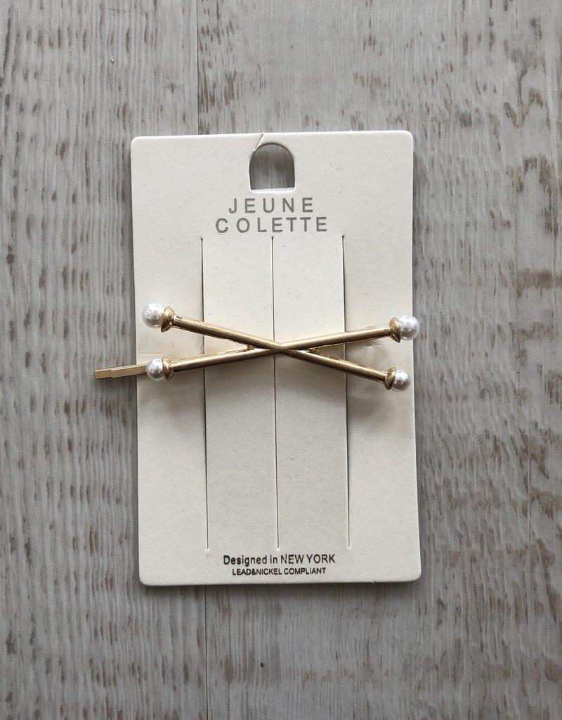 Golden Stella Crisscross Hair Pin