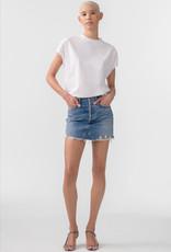 AGOLDE AGOLDE Quinn Hi Rise Mini Skirt in Ransom