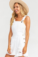 Show Me Your Mumu Georgia Overalls Dress Foam White