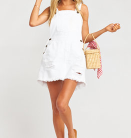 Show Me Your Mumu Georgia Overalls Dress Foam White
