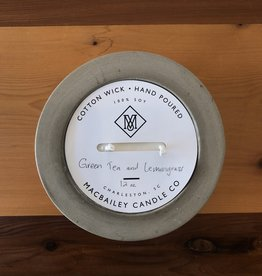 MacBailey Candle Co Gold Dipped Concrete Candle