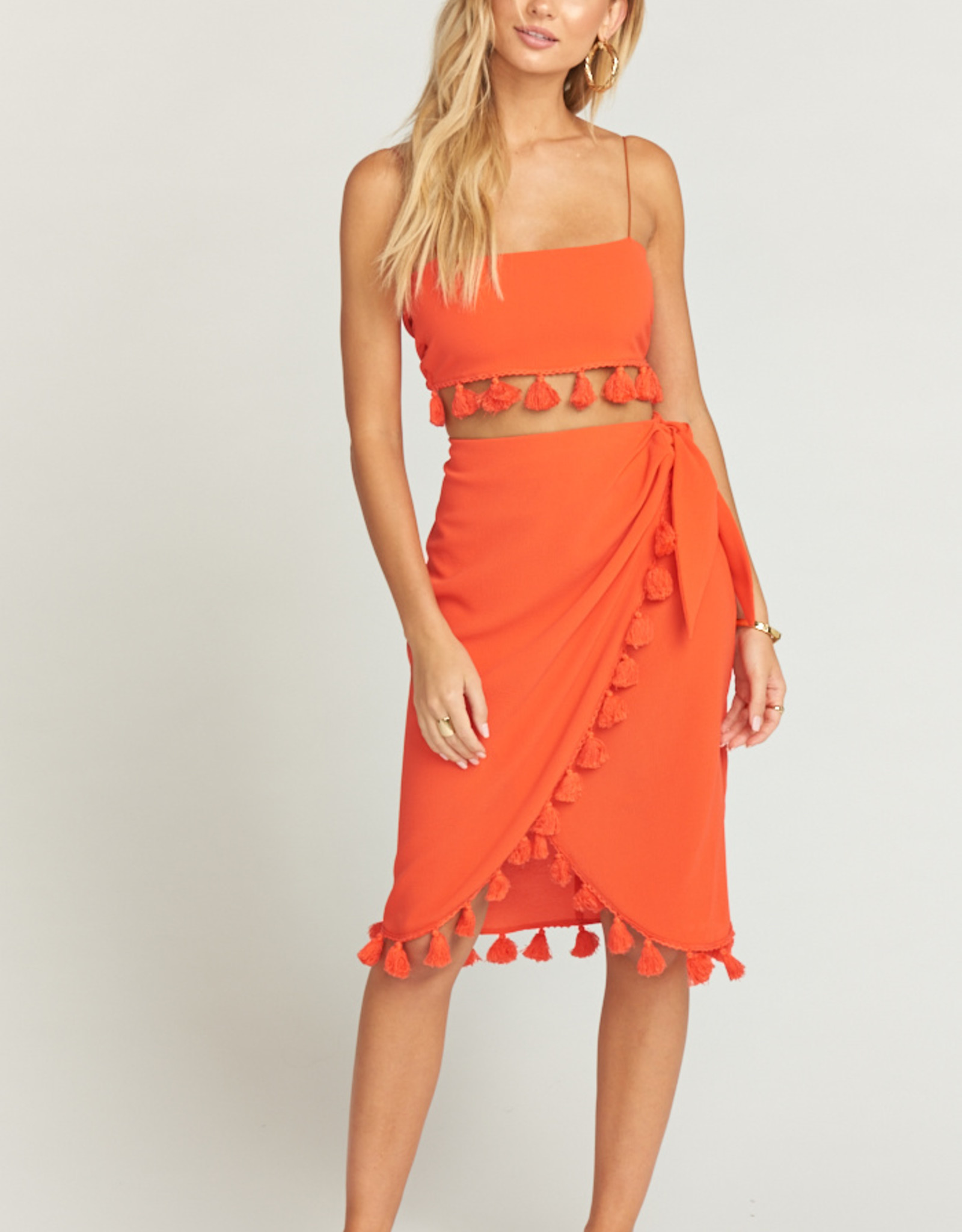 Show Me Your Mumu Anjolie Wrap Skirt W/Tassels Bellini