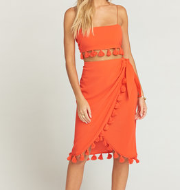 Show Me Your Mumu Anjolie Wrap Skirt W/Tassels Bellini