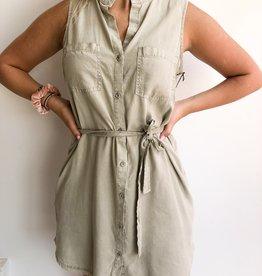 Bella Dahl Frayed Belt Shirt Dress