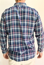 The Normal Brand Indigo Check Double Cloth Button Down