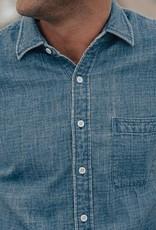 The Normal Brand Indigo Short Sleeve Double Cloth Lake